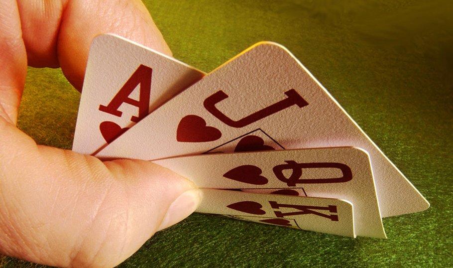 в троем играем в карты