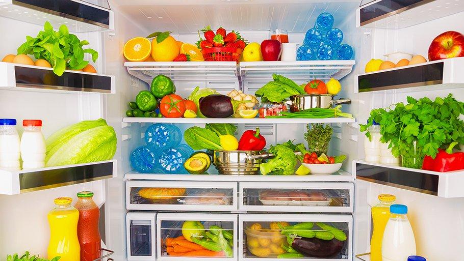 Картинки по запросу Не размещайте много продуктов на верхней полке холодильника